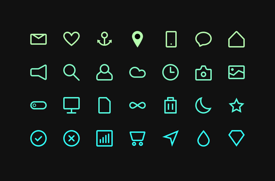 in cohesive icons