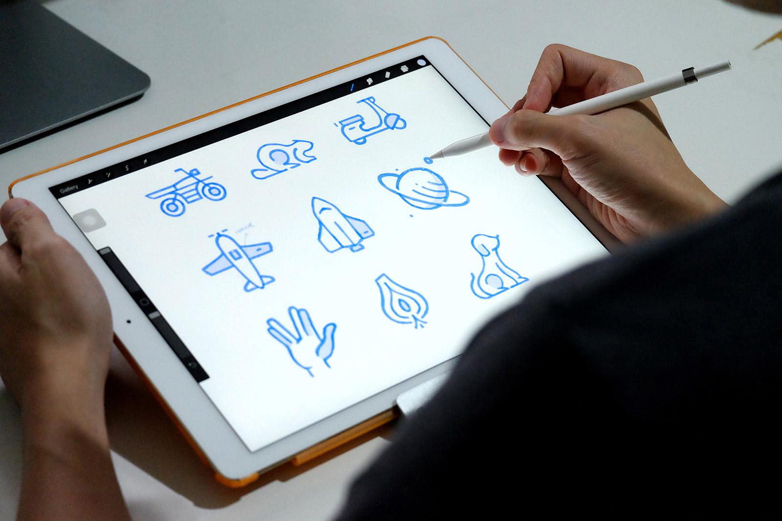 ipad-pro icons sketching