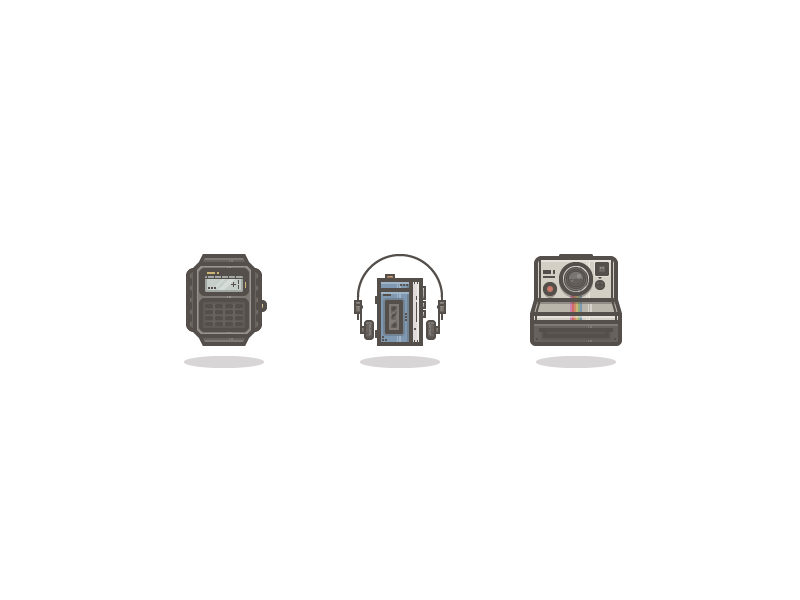 retro tech icons