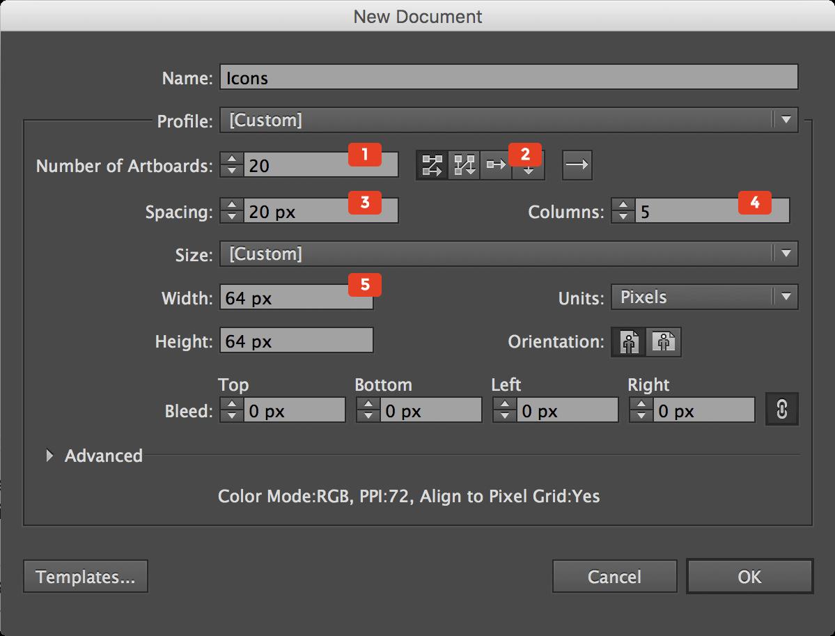 create new illustrator file