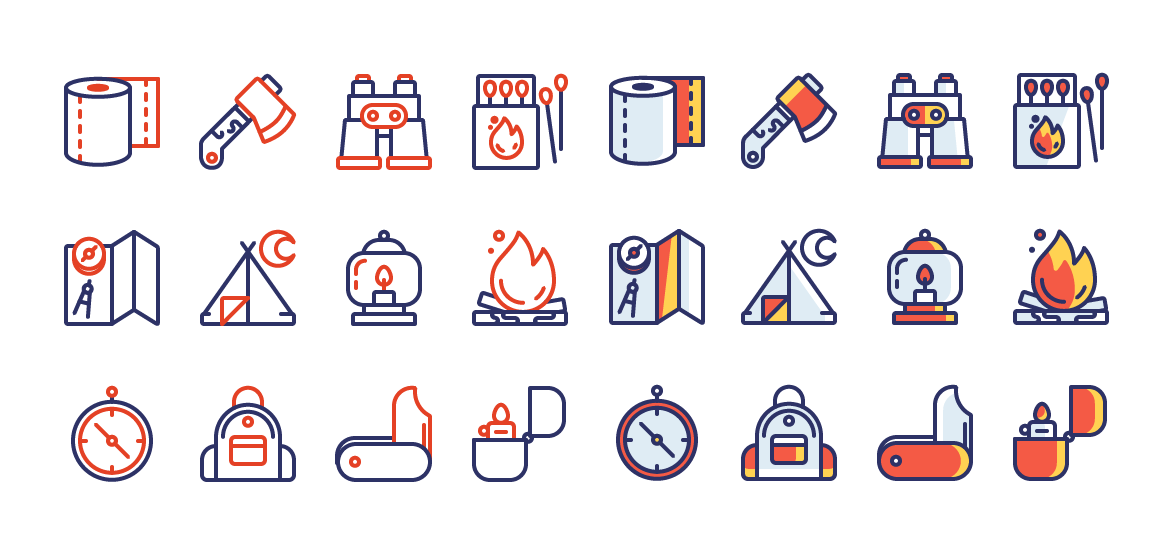 free-vector-camping-icons