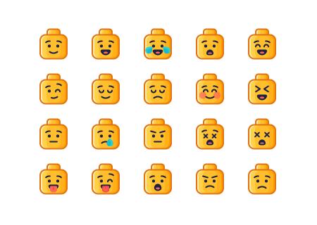 25 Lego Emoji Icons