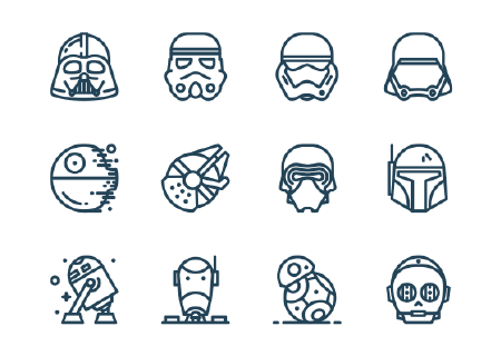 12 Free Star Wars Icons
